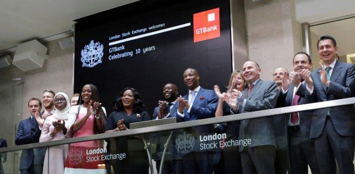 GTBank, London Stock Exchange, CBN, Nigeria, banking