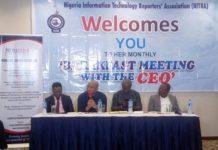 L-r: Mr. Ikechukwu Nnamani, CEO of Medallion; Mr. Ezekiel Egboye, Director Emma Okonji, Gbenga Adegbiyi, Ikechukwu Nnamani, Ezekiel Egboye