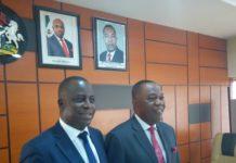 L-R Mr. Olusola Teniola, ATCON PresidenOlusola Teniola, Dr. Emmanuel Effiong Ekuwem
