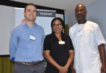 L-R: Chief Executive Officer and Co-founder of Oradian, Mr. Antonio Separovic; Mr. Antonio Separovic, Mrs. Florence Omofonmwam, Mr. Onyeka Adibeli